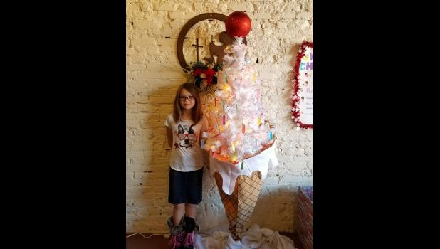 """Union County 4-Her Kim Adams has created a unique project to help a child to have a """"sweet"""" Christmas."""