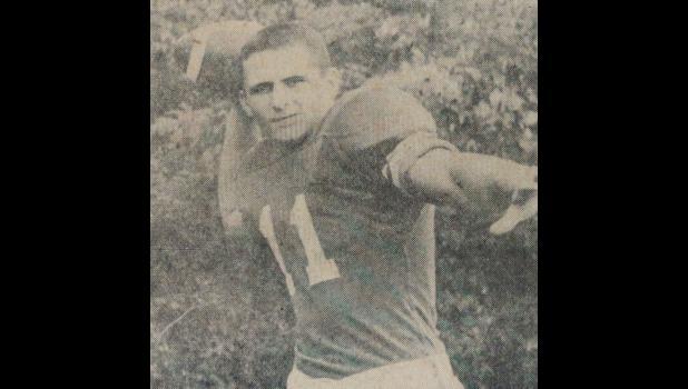 Tom Henderson, as a member of the 1960 Anna-Jonesboro Community High School football team. File photo from The Gazette-Democrat, September, 1960.