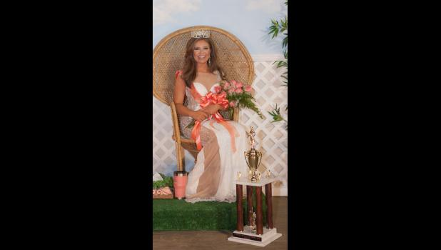 Janna Harner of Dongola was crowned Saturday night as the 2017 Cobden Peach Festival queen. Photo by Tiffiny Dillow for The Gazette-Democrat.