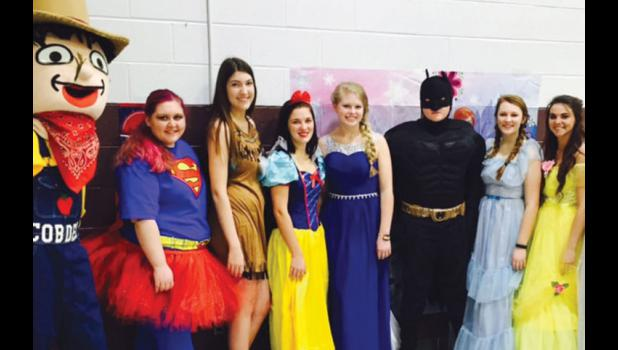 Superheroes and princesses were on hand.