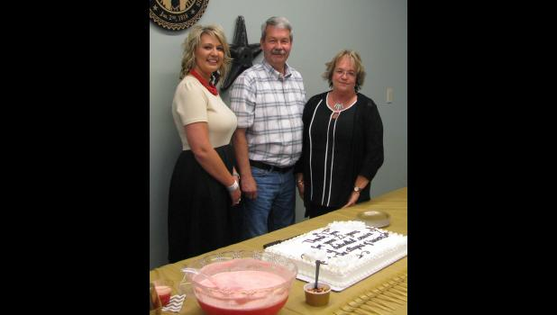 From left are new Union County 911 coordinator Crystal Gurley; Steve Hartline, who is chairman of the Union County 911 board; and Jana Fear, who has retired as the system's coordinator.