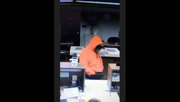 Video surveillance was able to record the subject's time in the bank.