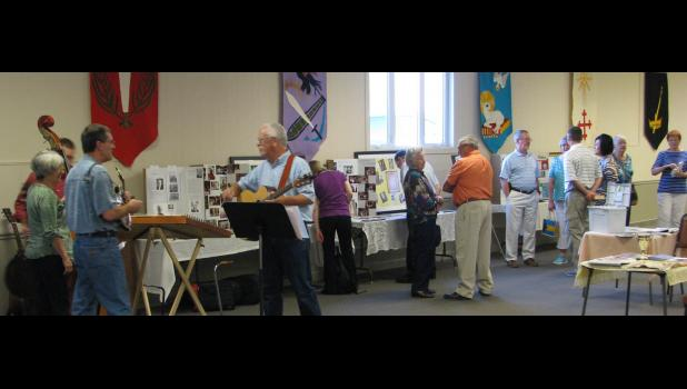 Music and memorabilia were featured at last Saturday evening's celebration. Many photographs highlighting the history and ministry of the church were on display. The Back Porch Company musical group performed at the event.