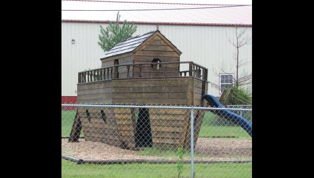 The best place to be last weekend? An ark at a playground at Anna Heights Baptist Church in Anna was still high and dry last Saturday. The picture was taken around midday.