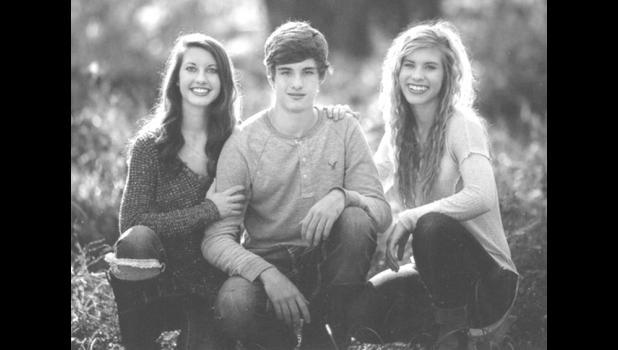 Ashley, Eli and Brenley Barringer. Photo provided.