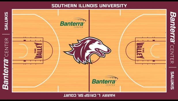 An image of a proposed Banterra Center floor plan rendering was posted on the SIU Athletics website.