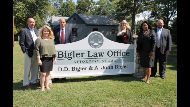 From left are the Hon. D.D. Bigler, Ursula Rakes, John Bigler, Arryn Carson, Lynne Chambers and Adam Loos.