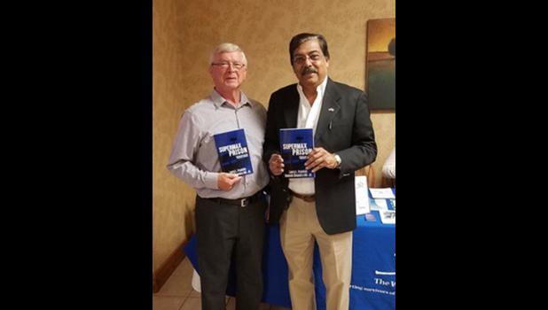 "Larry L. Franklin and Dr. Rakesh Chandra have unveiled their new book, ""Supermax Prison: Controlling the most dangerous criminals."" Photo provided."