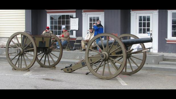 Civil War reenactors with King's Battery had a replica 10-pound Parrott rifle on display Saturday in front of the Anna Arts Center.