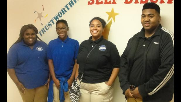 Cairo High School Beta Club presents the newly-elected officers. From left are Breona Childs, president; Ukari Posey, vice president; Lanaya Nelson, secretary; and Nigel Williams, treasurer. Photo provided.