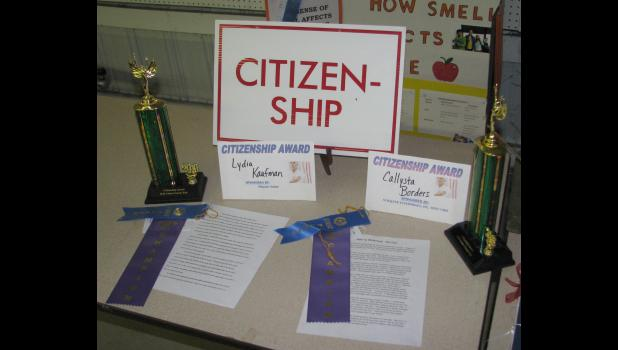 Lydia Kaufman and Callysta Border's winning essays were on display in the Exhibit building. The theme this year asked how to modernize the Union County fair.