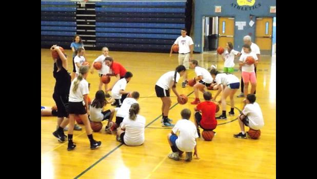 Coach Ron's Basketball 101 and Sports Speed Development Camp focused on fundamentals and speed training. Daily regiments included shooting, dribbling and passing drills that focused on form as well as function, as well as speed drills designed to improve endurance and acceleration. Photo by Benjamin Marxer.