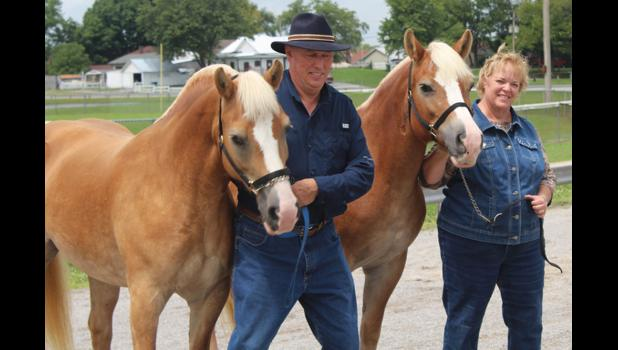 Doug and Beth Hileman showed their horses and participated in the horse show at the 2018 Union County Fair in Anna.