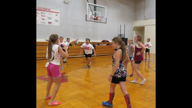 Union County FCA campers participated in competitions in the afternoons with games like volleyball, one-hit softball, flinger ball and more. Photos by Amber Filbeck.