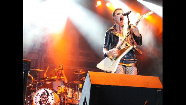 The band Halestorm performed during the Moonstock Music Festival at Walker's Bluff in Carterville. Photo by Lindsey Rae Vaughn.