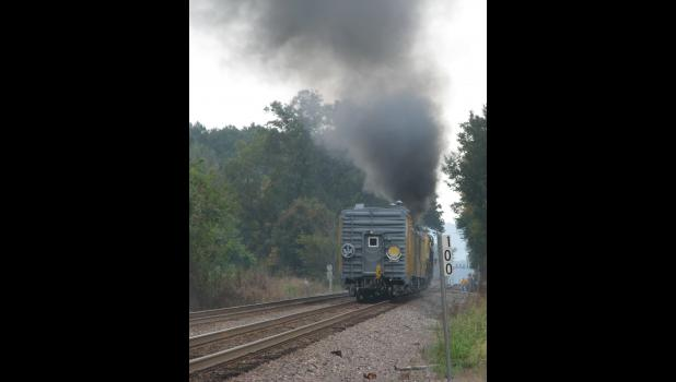 Steam locomotive No. 844 heads south, all the way to Memphis.