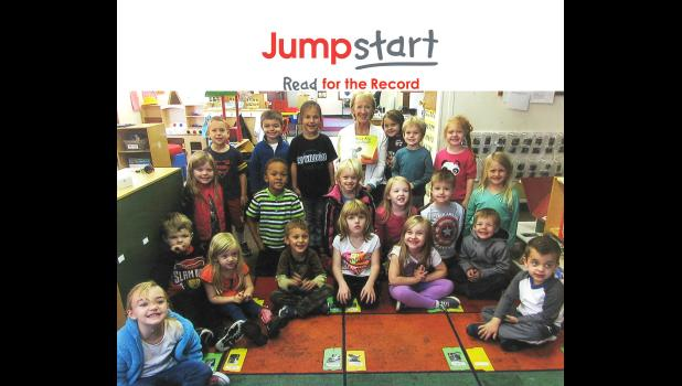 Anna School District No. 37's pre-kindergarten joined in the celebration of Jumpstart's Read for the Record. Photo provided.