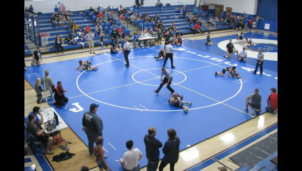 The Anna-Jonesboro Junior Wildcats wrestling program welcomed youth athletes from four states to a competition which was held last Sunday.   The event was held in the Union Hall gymnasium at Anna-Jonesboro Community High School.