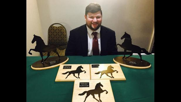 Lance Meisenheimer received numerous honors at the racking horse industry's winter meetings in Alabama. Photo provided.