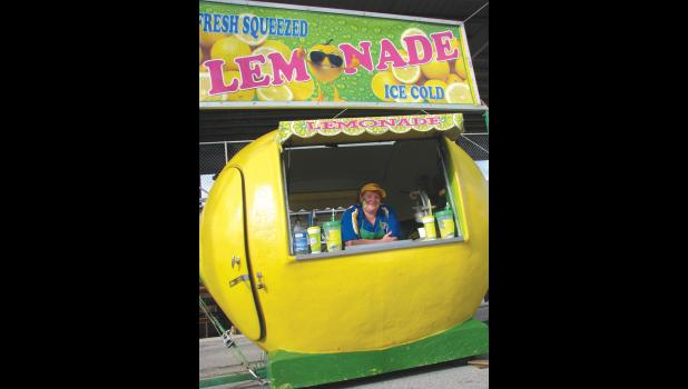 Fair-goers might spot this cheerful lemonade stand by the grandstand this week.