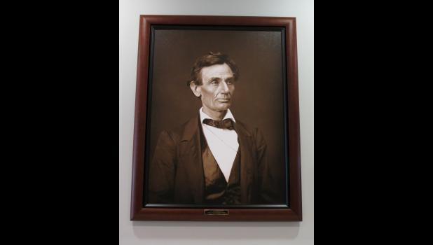 "This ""common-looking"" fellow really should not need an introduction. At least not in Illinois. This portrait of the fellow is now on display at the Union County Courthouse in Jonesboro."