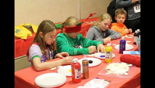 Young people had an opportunity to make ornaments after the Fun Run at the Anna Arts Center.