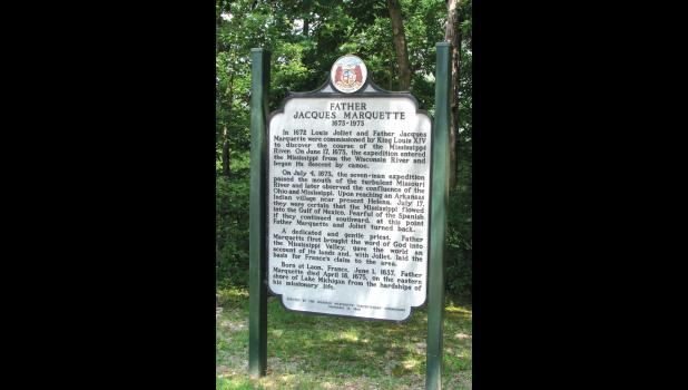 A little bit of history: Another sign at the Trail of Tears State Park tells the story of French explorer Father Jacques Marquette, who also passed by what is now Union County on a journey south along the Mississippi River.