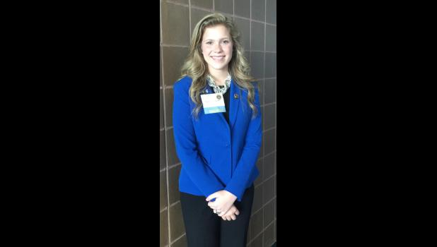 Natalie Taake ran for national Beta Club office at the convention.