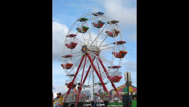 A new Ferris wheel was added to the midway of the fair on Tuesday, Aug. 23.