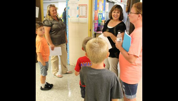 Third through fifth grade teacher Gena Oxford talked to students and parents about the upcoming school year.