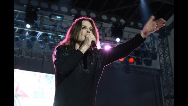 Ozzy Osbourne and his band performed during the Moonstock Music Festival at Walker's Bluff in Carterville. Photo by Lindsey Rae Vaughn.
