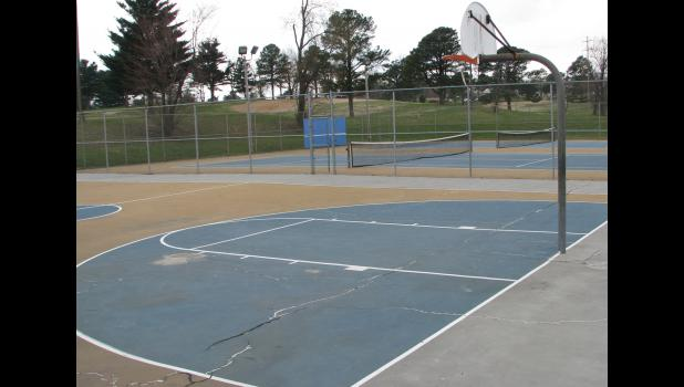 Improvements are planned at the basketball and tennis courts at the Anna City Park.