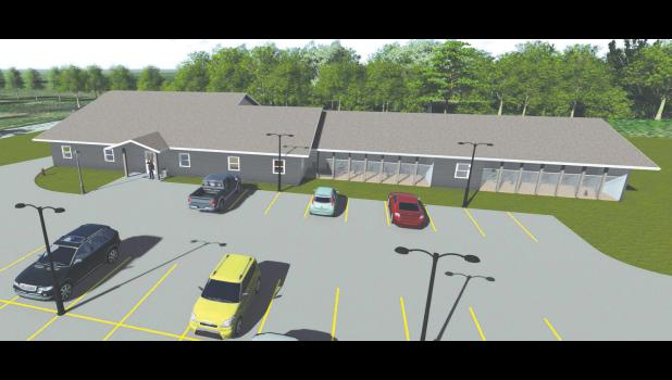An image that shows how the proposed PAWS facility would look.