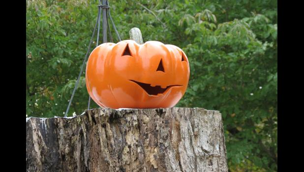 """During the final days of the 2020 election campaign, Halloween Party candidate Jack O'Lantern paid a visit to Union County. The candidate revived an old-time campaign tradition by making a stump speech. He spoke on an actual tree stump. The candidate said that he has not been spooked by the ongoing pandemic. While admitting to engaging in a few campaign tricks and possibly weaving a web of deceit, Mr. O'Lantern also promised a bag full of treats for good boys and ghouls. The sounds of """"Monster Mash"""" filled"""