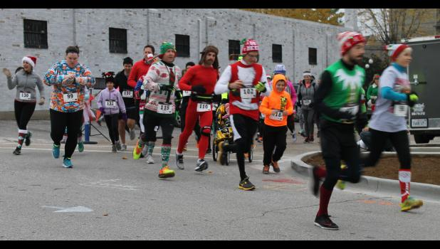 Runners participated in the third annual Reindeer 5K Run/Walk sponsored by the Shawnee Hills Arts Council/Anna Arts Center.