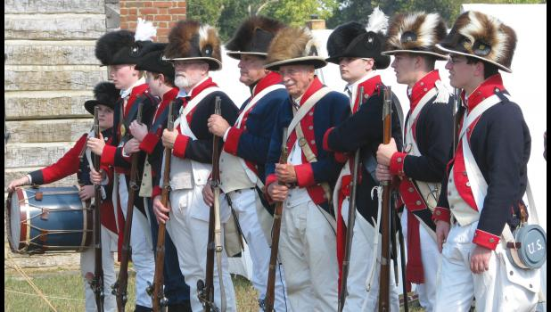 Reenactors portrayed soldiers during last weekend's encampment at Fort Massac State Park in Metropolis, which was held during an unusually warm weekend in October.