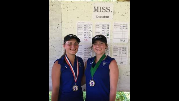 Tanner Stadelbacher (right) finished fifth place and Chelsea Reinier placed 10th. Photo provided.