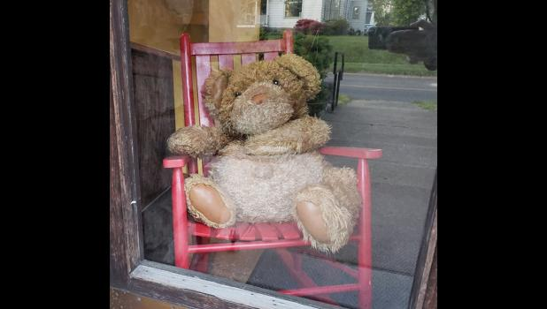 Bearnard has been feeling kind of lonely while he hangs out at Stinson Memorial Library in Anna. The photo, by the way, was on the library's Facebook page. Hope they don't mind me using it.