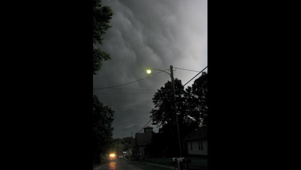 Dark blue, almost black storm clouds rolled through the sky over Union County Thursday evening, June 28.