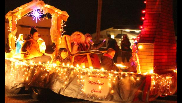 Tamms United Methodist Church had one of the floats which participated in the parade. Photo by Lindsey Rae Vaughn.