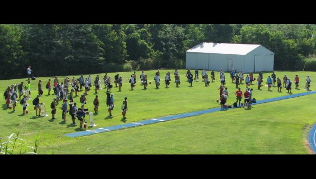 The Guardians, a drum and bugle corps from Houston, Texas, stopped in Anna Tuesday and Wednesday, July 25-26.