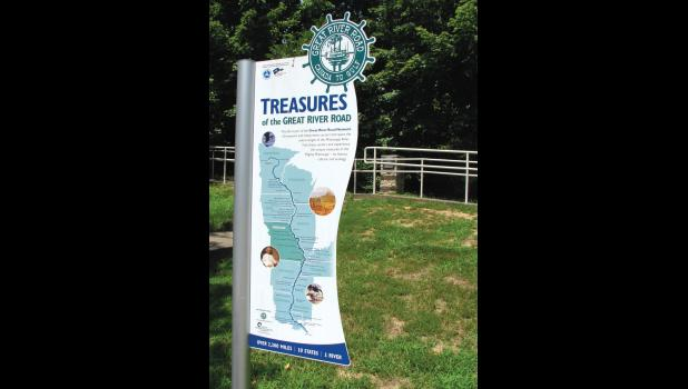 """Treasures of the Great River Road"" are highlighted on a sign at the Trail of Tears State Park. If you ask me, and even if you don't, I think the Great River Road is itself a treasure."