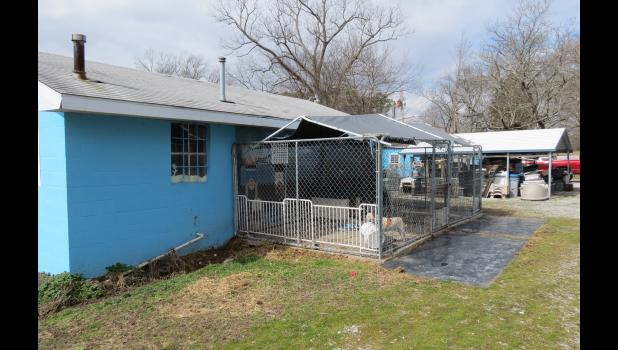 The Union County animal control shelter is located along Kaolin Road, between Anna and Cobden.