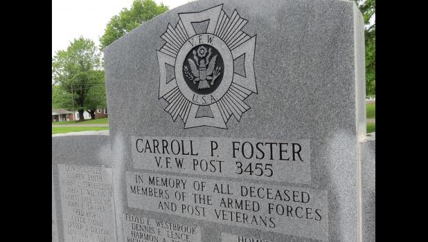 A monument honoring all deceased members of the nation's armed forces and past veterans stands on the grounds of the VFW Post near Anna.