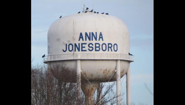 """They're everywhere...they're everywhere...just like the legendary """"Chicken Man."""" I hadn't noticed such a thing before. However, since vultures were on my mind, I happened to catch a glimpse of the feathered carrion crunchers taking a break on top of a water tower near Anna-Jonesboro Community High School last week."""