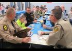 Second grade students at Lincoln Elementary School honored law enforcement personnel from the Illinois State Police, the Union County Sheriff's Office and the Anna Police Department during Cookies with a Cop on Thursday, Jan. 26. Photo by Amber Skelton.