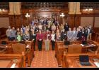 State Sen. Dale Fowler, R-Harrisburg, welcomed more than four dozen students from across the 59th Senate District to his youth advisory council meeting at the Illinois State Capitol in Springfield. Photo provided.